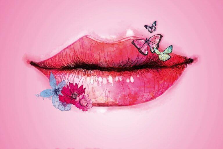 boca-com-flores-e-borboletas