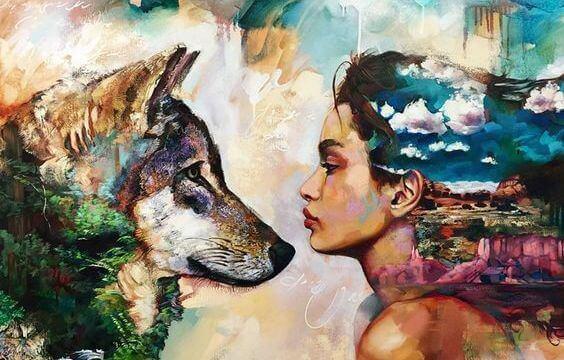 mulher-lobo-natureza