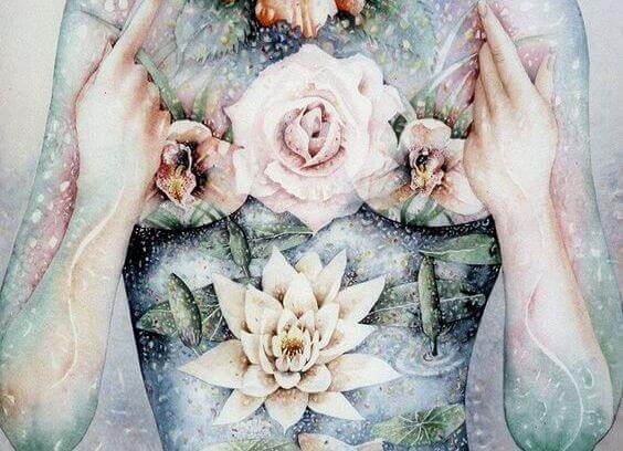 mulher-roupa-flores