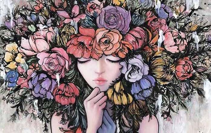 mulher-com-coroa-de-flores