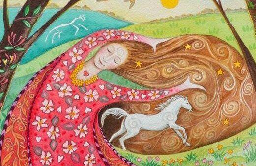 mulher-com-cavalo
