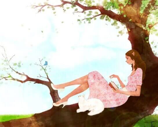 mulher-lendo-arvore-boa-saude-emocional