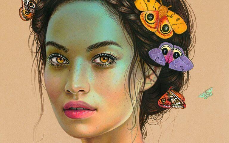mulher-com-borboletas-cabelo