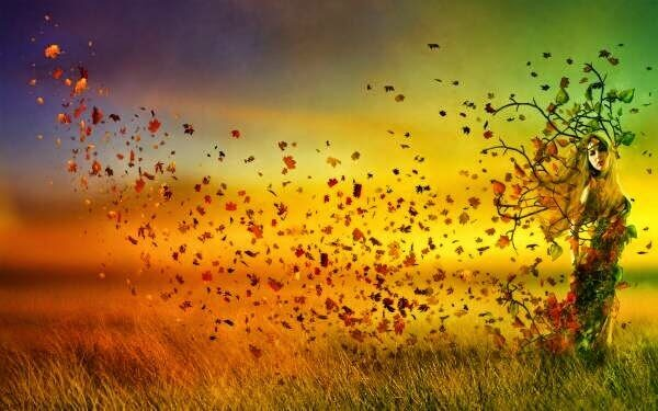 mulher-folhas-outono