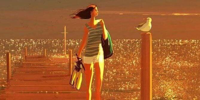 mulher-passaro-mar
