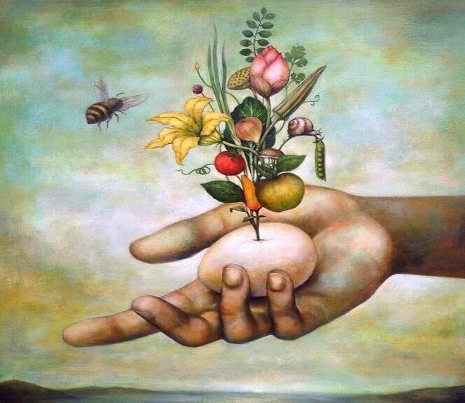 abelha-e-flores