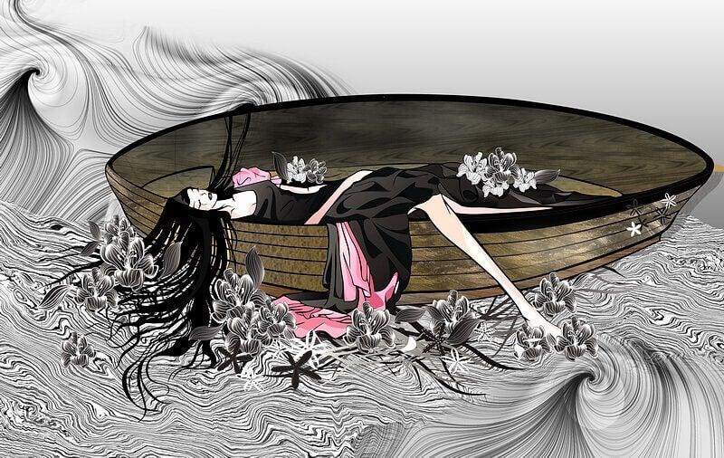 mulher-em-barco