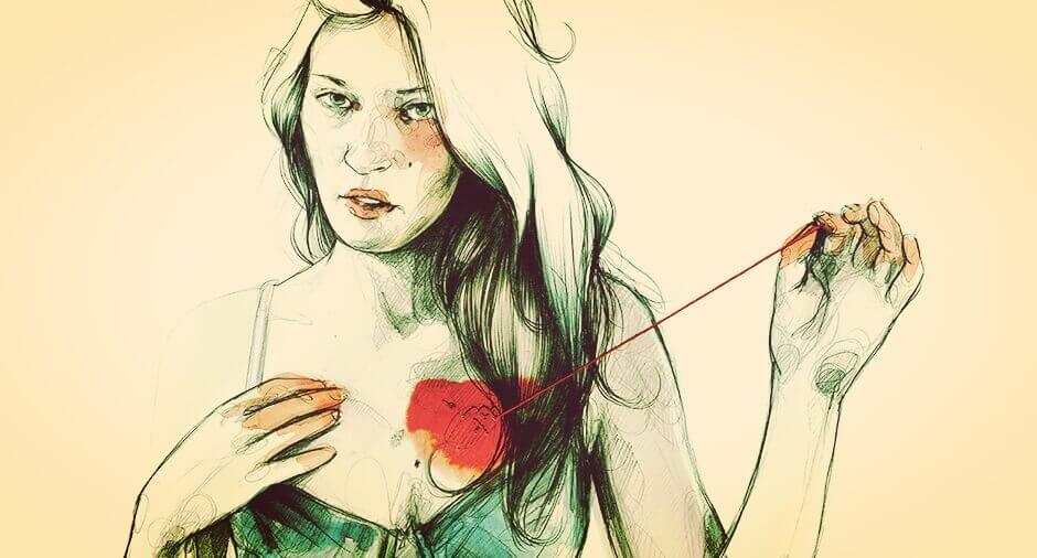 mulher-tocando-coracao