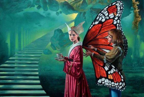 mulher-borboleta