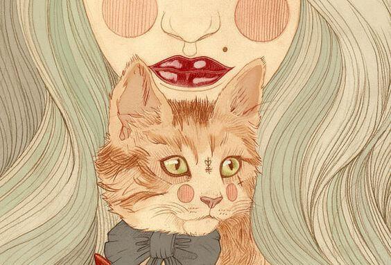 mulher-com-gato