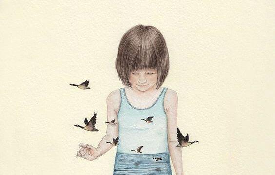 menina-rodeada-de-passaros