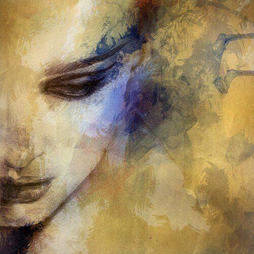 pintura-mulher-com-medo