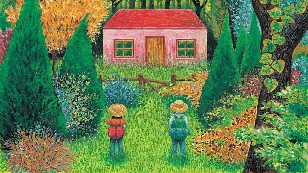 casal-em-frente-a-uma-casa