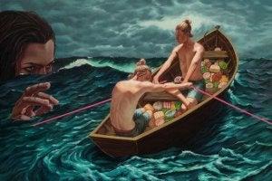 homens-em-barco-fugindo-de-mulher-malvada
