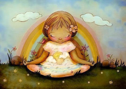 menina-meditando-arco-iris