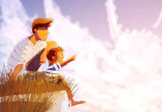 pai-e-filho-paisagem