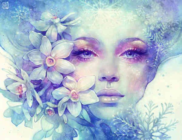 mulher-flores-delicadas