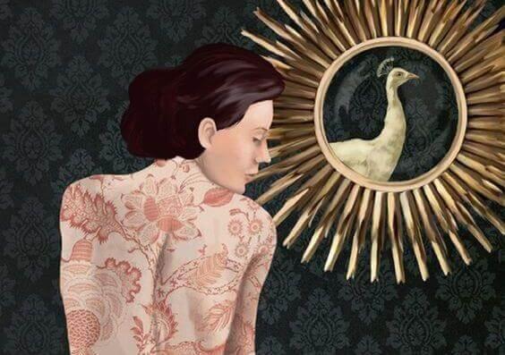mulher-passaro-no-espelho