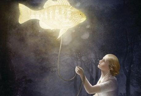 mulher-peixe-iluminado