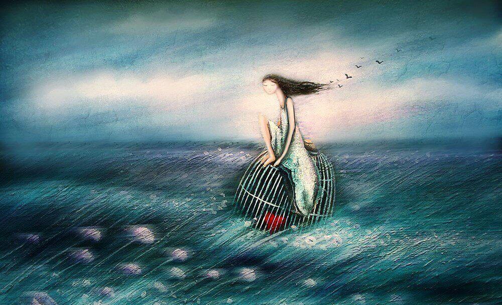 mulher-gaiola-mar