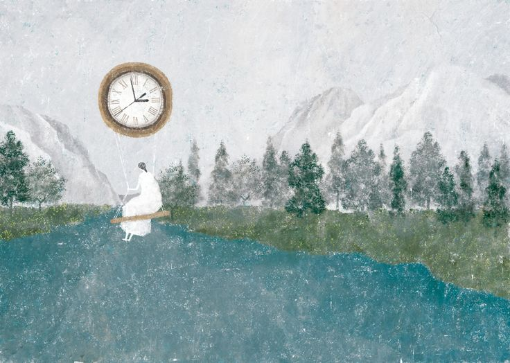 mulher-balancando-em-relogio-paisagem-bonita