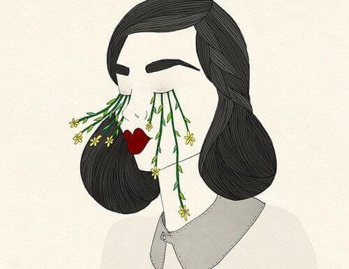 mulher-chorando-flores