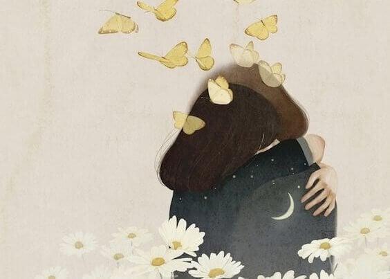 casal-abracado-borboletas