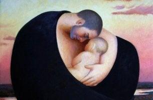 Um pai não dá o peito, mas também nutre seu filho