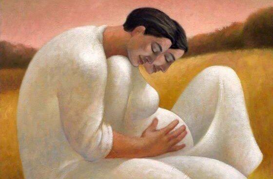 homem-com-sua-mulher-gravida