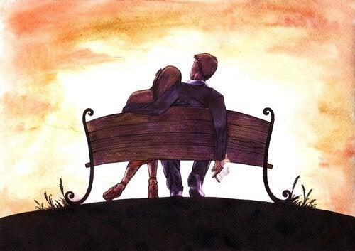casal-sentado-em-banco