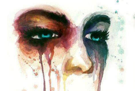 pintura-olhos-de-mulher-chorando