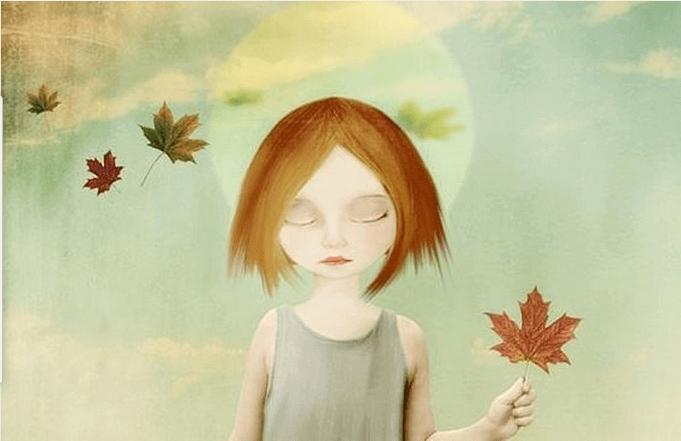 menina-segurando-folha