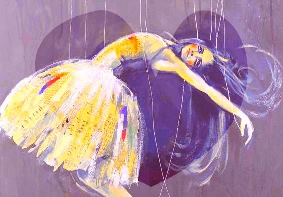 Bailarina sendo controlada por cordas