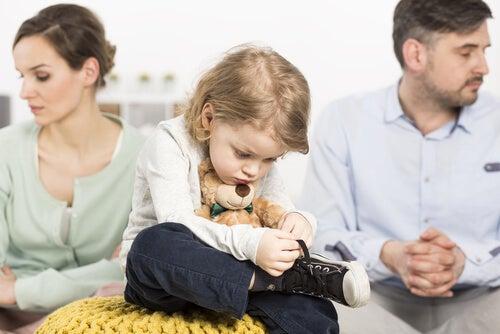 filhos sofrem com as brigas de família