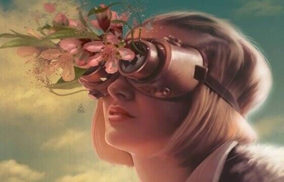 mulher-com-flores-nos-olhos