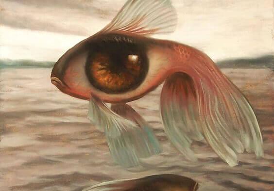 Peixe em formato de olho