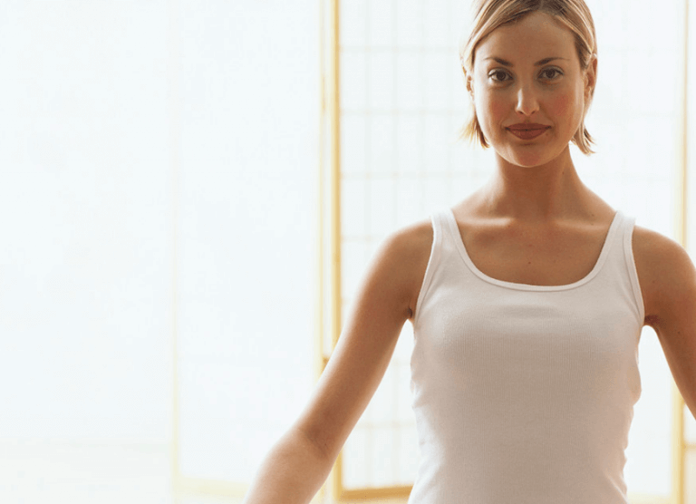 Woman meditating to combat anxiety