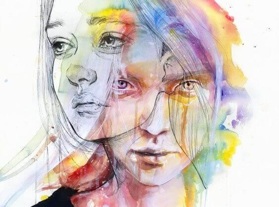 Mulher lidando com suas emoções