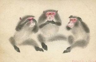 Três macacos sábios