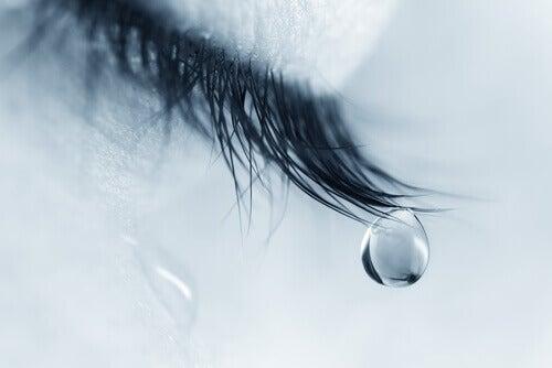 Olho derramando lágrimas