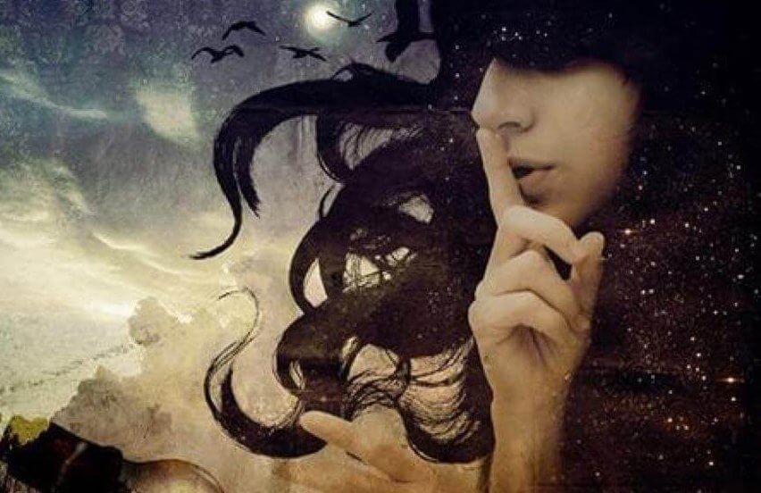Mulher silenciando suas distorções cognitivas