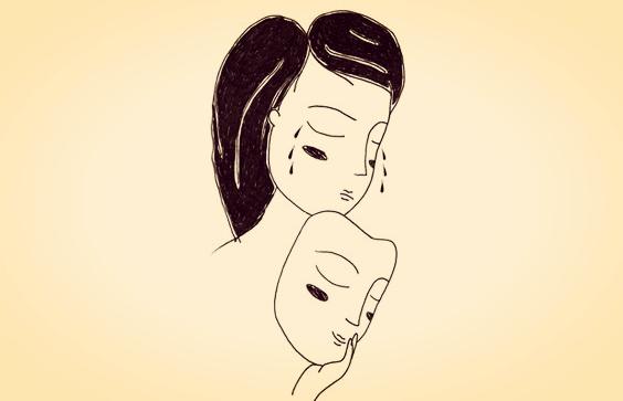 Mulher triste chorando