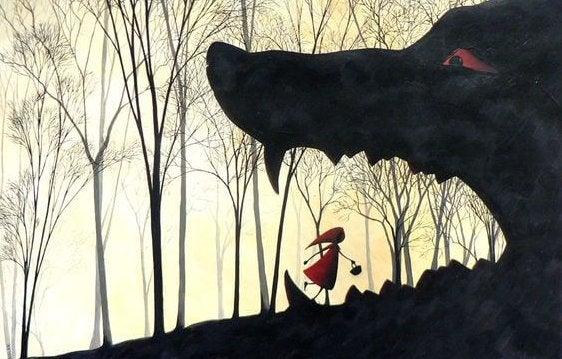 Chapeuzinho vermelho e o lobo mau
