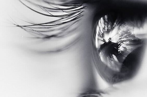 Olho em preto e branco