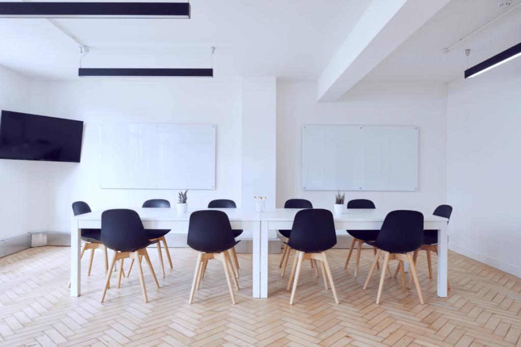 Sala de reunião para falar em público