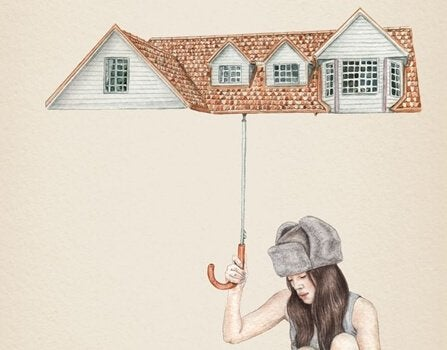Telhado formando guarda-chuva