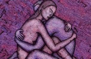 Casal que compartilha uma intimidade verdadeira