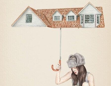 Guarda-chuva para proteger suas energias