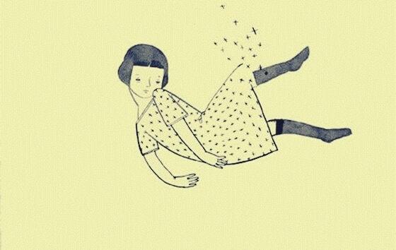 Jovem usando vestido de bolinhas
