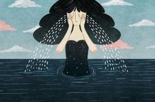 Mulher chorando a morte de uma pessoa querida